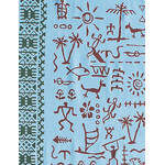 Petroglyphs - Mini Tenugui (Japanese Multipurpose Hand Towel)