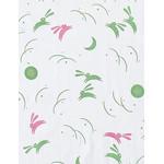 Rabbits in the Moonlight - Mini Tenugui (Japanese Multipurpose Hand Towel) - Green