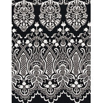 Lace - Mini Tenugui (Japanese Multipurpose Hand Towel) - Black