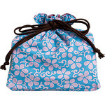 Flowers Kinchaku (Drawstring Bag)