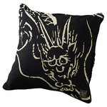 Dragon Cushion  - Black