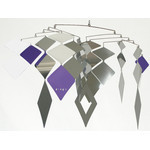 MOBIO Diamond Hanging Mobile (Silver/Purple)
