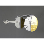 MOBIO Violin Mini Hanging Mobile (Silver/Gold)