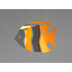 MOBIO Mini Angel Fish Hanging Mobile (Orange/Silver)