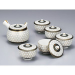 Kutaniyaki -  Green Tea Set (Honeykomb)
