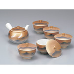 Kutaniyaki -  Green Tea Set (Mountain Crane)