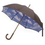 Totes Manual open Long Umbrella (Azure)