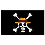 One Piece - Straw Hat Jolly Roger Large Towel