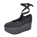 BELLY BUTTON No.122 / Black Nubuck Platforms