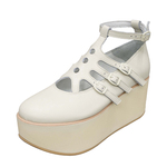 BELLY BUTTON No.920 / Ivory Platforms
