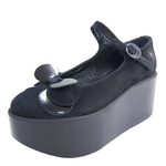 BELLY BUTTON No.124 / Black Nubuck Platforms