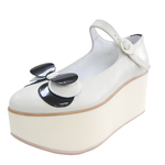 BELLY BUTTON No.924 / Ivory-Black Platforms