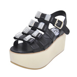 BELLY BUTTON No.931 / Black Platform Sandals