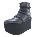 BELLY BUTTON No.721 / Black Smooth Platform Boots