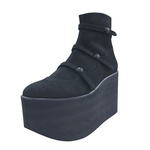 BELLY BUTTON No.721 / Black Nubuck Platform Boots