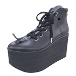 BELLY BUTTON No.722 / Black Smooth Platform Shoes