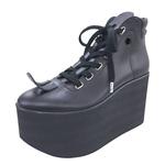 TOKYO BOPPER No.722 / Black Smooth Platform Shoes