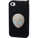 iPhone 4/4S Alien Silicone Case - Brown