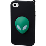 iPhone 4/4S Alien Silicone Case - Green