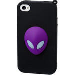 iPhone 4/4S Alien Silicone Case - Purple