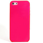 iPhone 5 TPU Translucent Shell Case - Pink