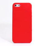 iPhone 5 TPU Translucent Shell Case - Red