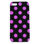 iPhone 5 TPU Polka Dot Shell Case - Black x Pink
