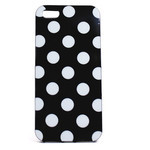 iPhone 5 TPU Polka Dot Shell Case - Black x White