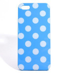 iPhone 5 TPU Polka Dot Shell Case - Blue x White