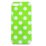 iPhone 5 TPU Polka Dot Shell Case - Green x White