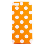 iPhone 5 TPU Polka Dot Shell Case - Orange x White