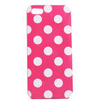 iPhone 5 TPU Polka Dot Shell Case - Pink x White