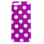 iPhone 5 TPU Polka Dot Shell Case - Purple x White