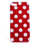 iPhone 5 TPU Polka Dot Shell Case - Red x White