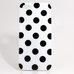 iPhone 5 TPU Polka Dot Shell Case - White x Black