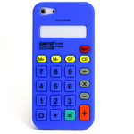 iPhone 5 Silicone Shell Case - Calculator (Blue)