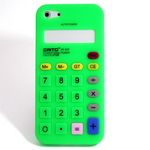 iPhone 5 Silicone Shell Case - Calculator (Light Green)