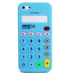 iPhone 5 Silicone Shell Case - Calculator (Light Blue)