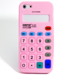 iPhone 5 Silicone Shell Case - Calculator (Light Pink)