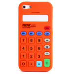 iPhone 5 Silicone Shell Case - Calculator (Orange)