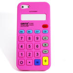iPhone 5 Silicone Shell Case - Calculator (Pink)