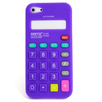 iPhone 5 Silicone Shell Case - Calculator (Purple)
