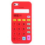 iPhone 5 Silicone Shell Case - Calculator (Red)