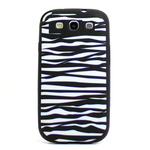 GALAXY S3 Animal Silicone Case - Zebra