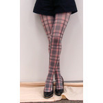 Harajuku Style Pink Tartan Tights/Leggings - Made in Japan