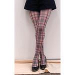 Harajuku Style Pink Tartan Tights/Leggings - Made in Japan