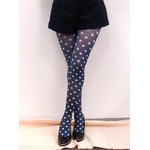 Harajuku Style Blue Polka Dot Tights/Leggings - Made in Japan