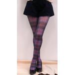 Harajuku Style Dark Tartan Tights/Leggings - Made in Japan