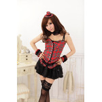 AKIBA-style Frilled Lace Camisole with Mini Skirt