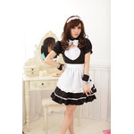 Puff-Sleeve, Square-Back Maid Cosplay Costume Set